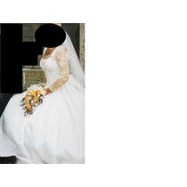 Vestido De Novia Con Guipure De Seda