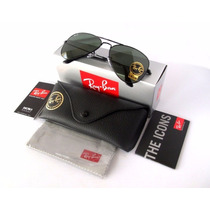 Ray Ban Rb3025 L2823 Aviador Clasico Negro 62mm Grande
