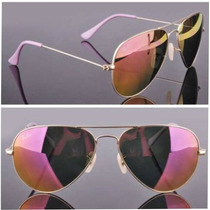 Ray Ban Aviator Rb 3025 112/70 Gold & Pink Mediano 58