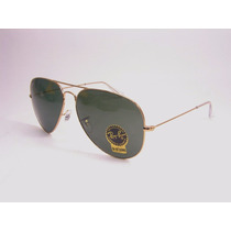 Lentes, Ray Ban Aviator Rb3026 L2846 Talla Grande 62mm