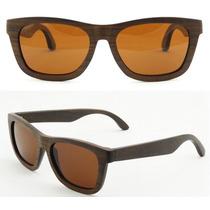 Lentes De Sol De Madera Natural Bamboo Polarizados Eyewear
