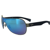 Lentes Ray Ban Rb 3471 029/55 Blue Mate & Silver Blue Mirror