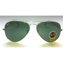 Ray Ban Rb3025 L0205 Aviador Clasico Dorado 58mm Mediano