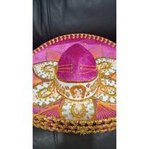Sombrero Charro Flor Mariachi Rosa Mexicano Niña Exportacion