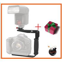 Soporte Bracket Rapida Rotacion De Flash P/camcorders,d-slrs