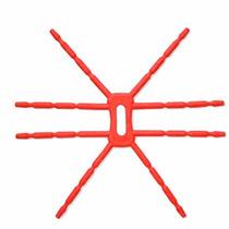 Soporte Flexible Para Xperia, Galaxy, Iphone Lg Spider Rojo