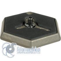 Manfrotto 030-14 Plato Hexagonal Con Tornillo 1/4 Pulgadas