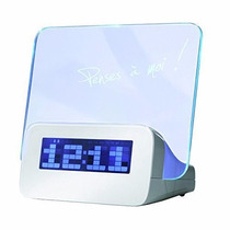 Reloj Despertador Con Pizarrón Led Para Mensajes