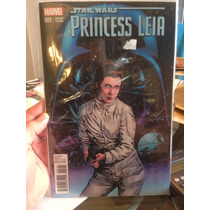Star Wars Princess Leía # 001 Portada Variante En Ingles