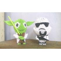 Set De Figuras De Star Wars De Origami En 3d