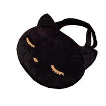 Bolsa De Gatito Dormido, Furry Negro Amplia Bordada 50cm
