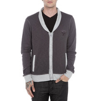 Hot Topic Rude Grey Collared Cardigan M