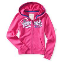 Aeropostale Sudadera Rosa Script Full-zip Hoodie Gossip Pink