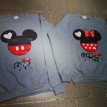 Conjunto Sudaderas Para Pareja Mickeys Personalizadas