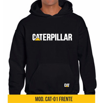 Sudaderas Caterpillar Hoodie Cat Hombre Negro Gris