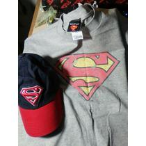 Conjunto De Gorra Y Camiseta De Superman