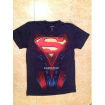 Superman Playera Injustice Talla S,m,lyxl Original Dc Comics