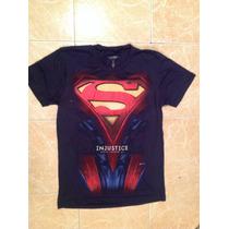 Superman Playera Injustice Talla S,m,lyxl Original Dc Comics