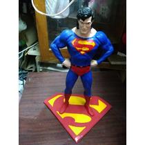Figura De Superman Echa De Resina