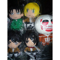 Shingeki No Kyojin Attack On Titan Peluches Mikasa Levi Eren
