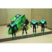 Lee Anunc Lote Linterna Verde Nave C 4 Figura Mattel 2007