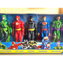 Liga Justicia 5 Pack Batman Superman Flash Arrow The Riddler