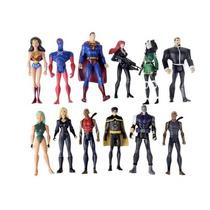 Set Of 12 Dc Comics Super Hero Young Justice Action Figures