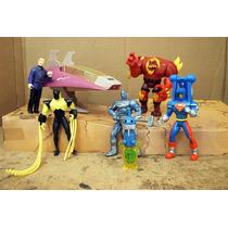 Lee Anuncio X Lote Doomsday & 4 Figura Y Nave 1/12 Dc Comics