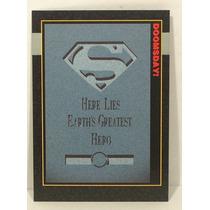 The Death Of Superman Prototype Promo Card 00 Suelta Hm4