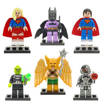 Set Supergirl Batzarro Superman Brainiac Ciborg Para Armar