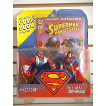 Superman Y Massacre Con Comic Exclusivo Kenner Vintage