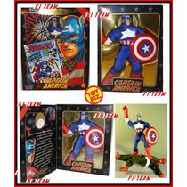 Figura Capitan America Famous Covers Traje De Tela 20 Cms.