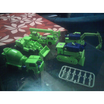 Lote 5 Transformers Bootleg Maquinas Mexicano Costructicons