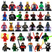 Super Heroes De Marvel Dc Y Diversos Personajes Tipo Lego