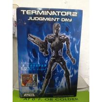 No Hot Toys T-600 Endoeskeleton De Metal 1/6 Plata Limpio
