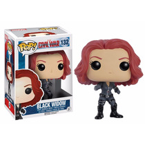 Black Widow Funko Pop Civil America Iron Man Viuda Negra