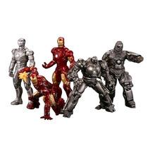 Set 5 Figuras Iron Man Gashapon Marvel Avengers Kaiyodo Mark