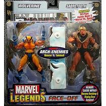 Marvel Legends Face Off Wolwerine Vs Sabretooth Variante