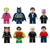 Set De Batman Robin Pinguino Guason Batichica Minifiguras