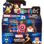 Minimates Set Exclusivo Captain America Ryu Marvel Vs Capcom
