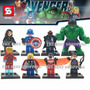 Set 8 Figuras Avengers Marvel Ultron Falcon Compatible Lego