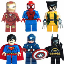 Lote Superheroes Lego 16 Piezas Marvel Dc