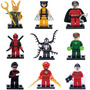 9 Super Hero Deadpool Loki Venom Linter Compatibles Con Lego