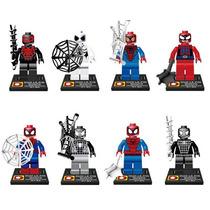 Set De Spiderman Hombre Araña 8 Diferentes Ver Tipo Lego