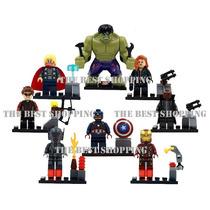 Set 8 Figuras Ultron Compatible Lego Hulk Iron Superheroes
