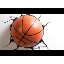 Lamparas 3d Led De Pared Balon Basketball | Tooys