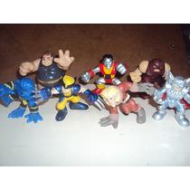 Lote D 7 Super Hero Squad Xmen Juggernaut Coloso Bestia Wolv