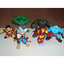 Lote D 6 Super Hero Squad Avengers Thor Hulk Ironman Abomina