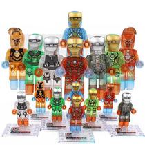 Set A4 Armaduras Iron Man Cristal Frozen Compatible Con Lego