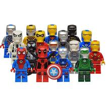 16 Iron Man Customs Iron Avengers 2015 Marvel Dc Tipo Lego